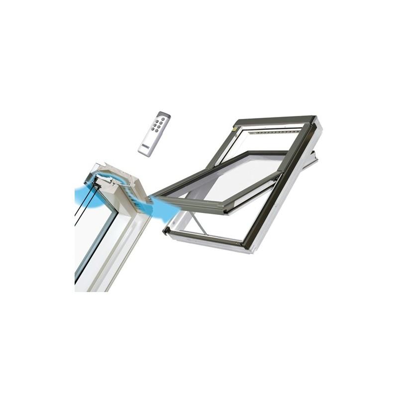 fen tre de toit rotation electrique sp ciale pi ces. Black Bedroom Furniture Sets. Home Design Ideas